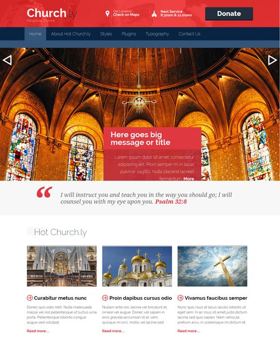 churchly church wordpress theme
