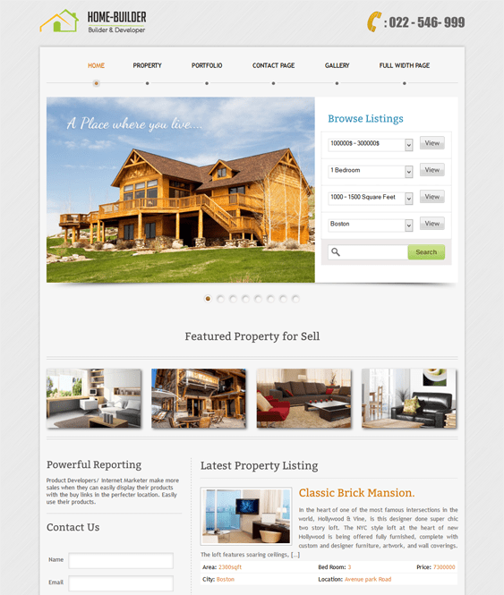 homebuilder real estate wordpress theme