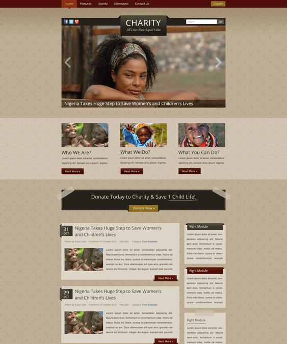 it charity nonprofit joomla template