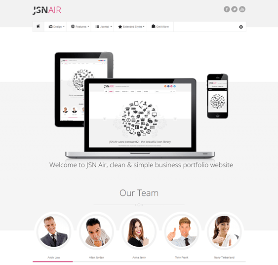 jsn air clean joomla templates