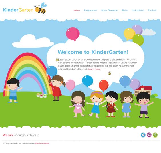 kindergarten kids joomla templates