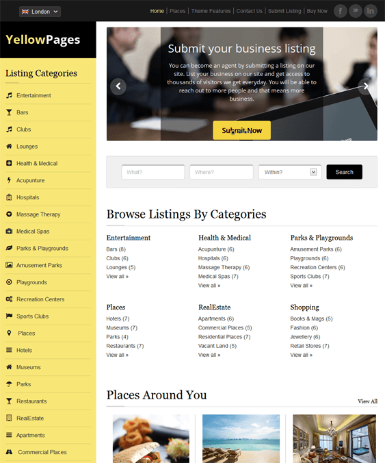 10 of the Best Directory WordPress Themes – <br />down