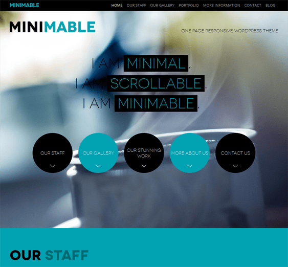 minimable free one page wordpress theme