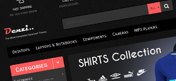 dark opencart themes feature