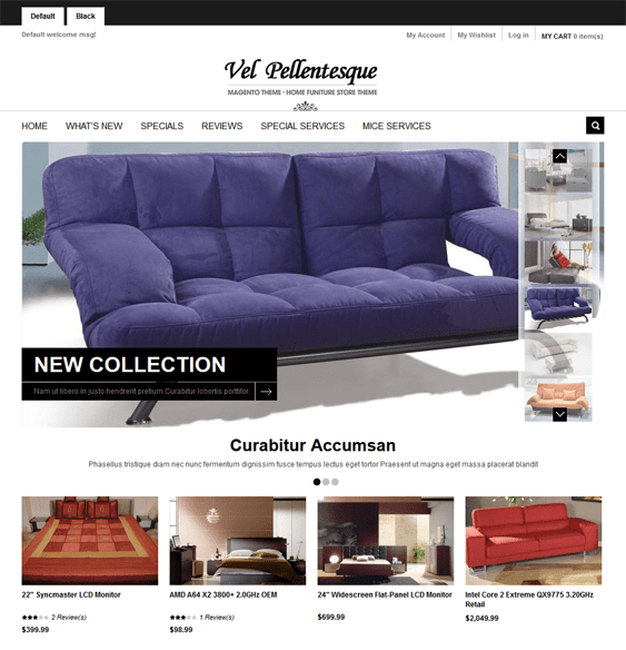 gala decolux furniture magento themes