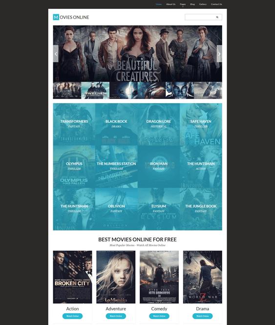 movie tv joomla template