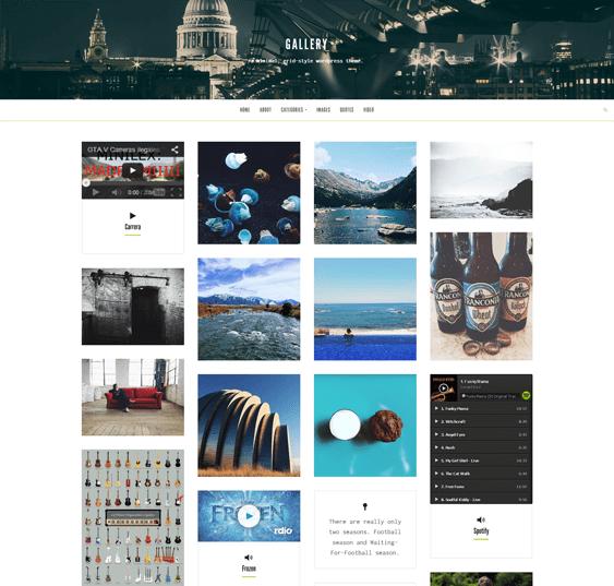gallery masonry wordpress portfolio theme