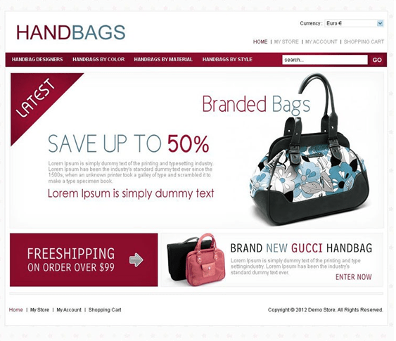 handbags virtuemart template