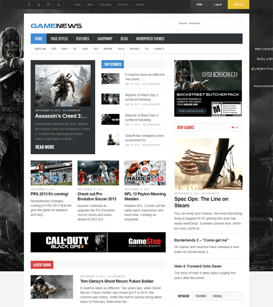 Gaming Info Sites: 5 More Of The Best WordPress Gaming Themes