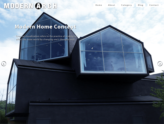 modern arch architect wordpress theme