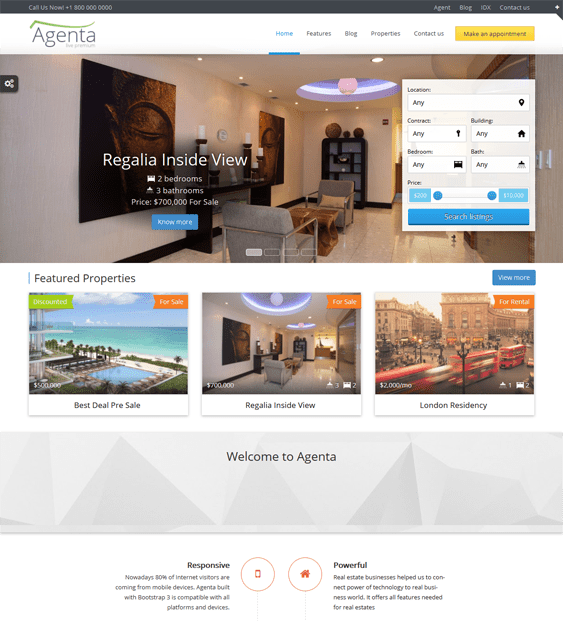 agenta real estate wordpress theme