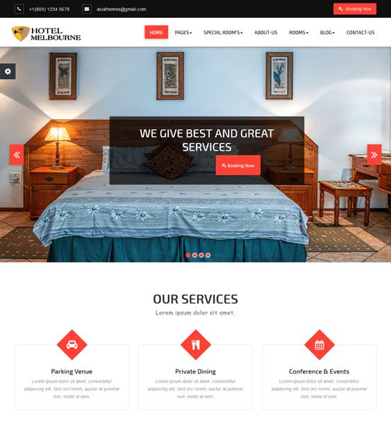hotel wordpress theme melbourne