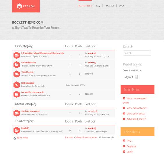 epsilon responsive phpbb3 themes