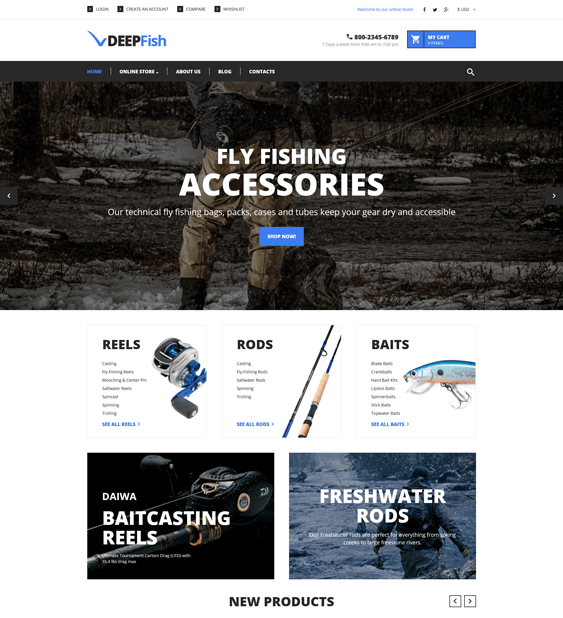 fishing virtuemart templates