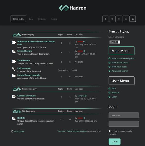 hadron responsive phpbb3 themes