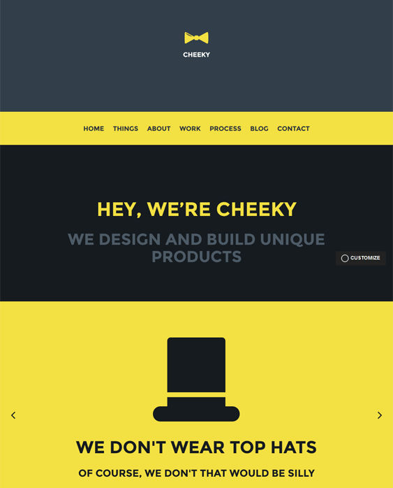 cheeky one page wordpress theme