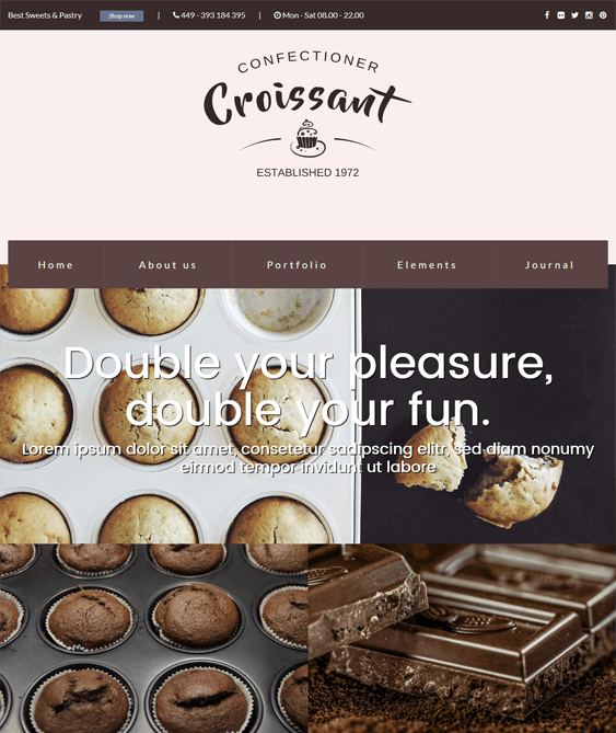 croissant restaurant wordpress theme