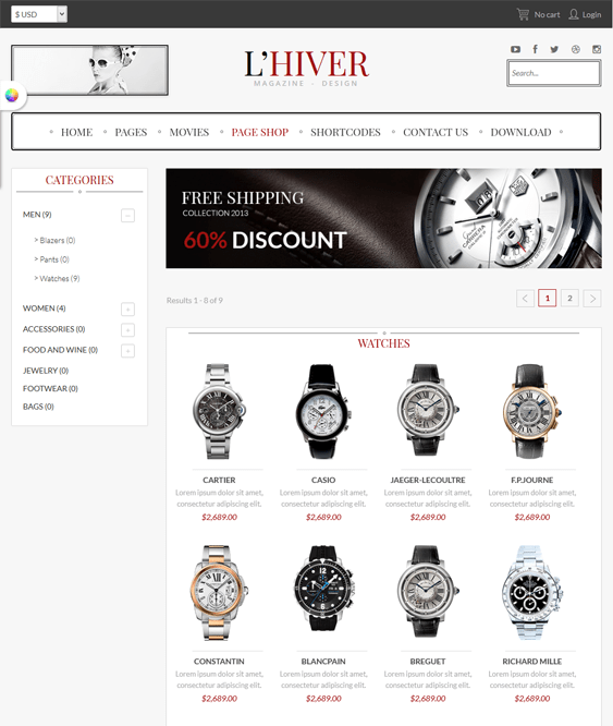 lhiver hikashop template