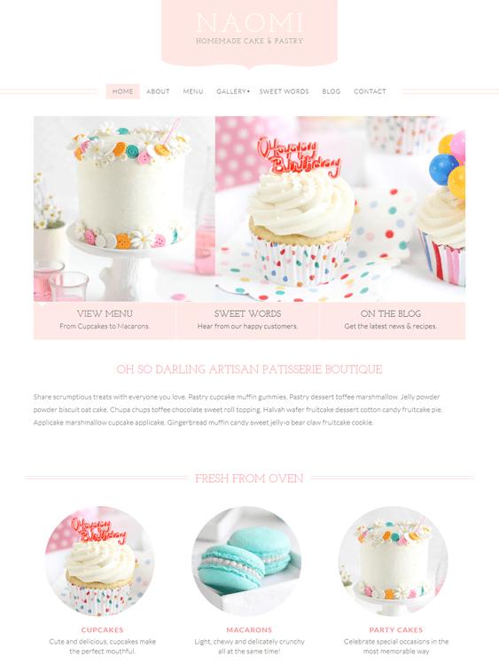 naomi bakery wordpress theme