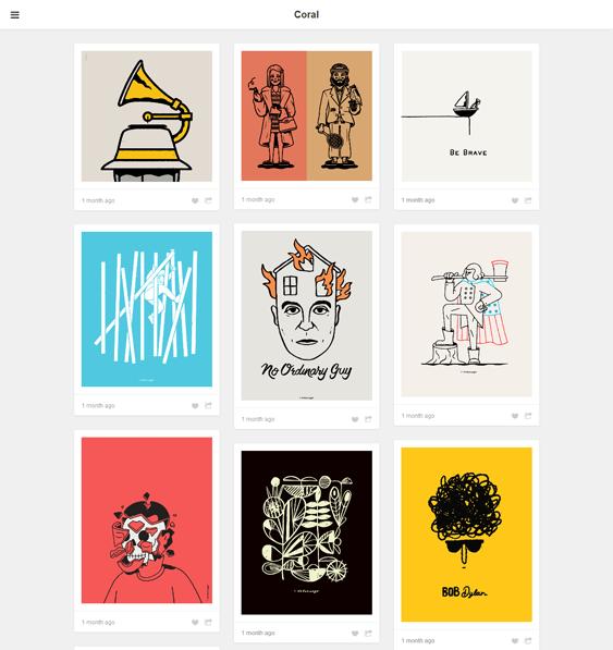 coral portfolio tumblr theme