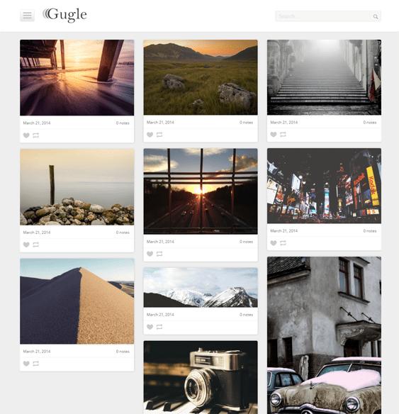 gugle masonry tumblr theme