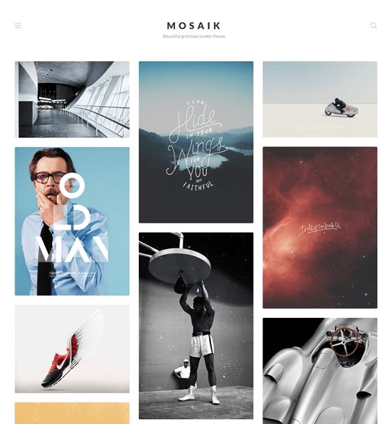 mosaik portfolio tumblr theme