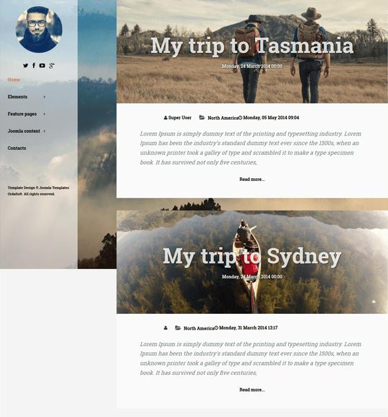 traveler travel joomla templates
