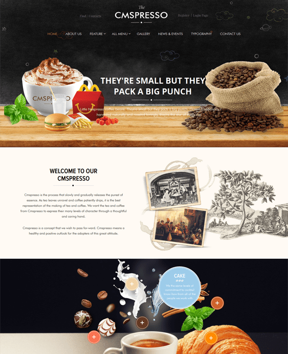 coffee restaurant wordpress themes