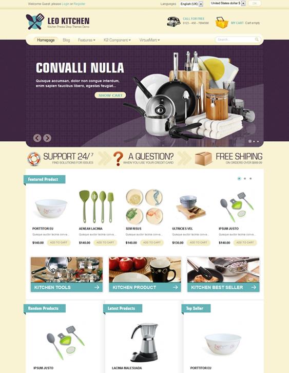 leo kitchen virtuemart tmeplate