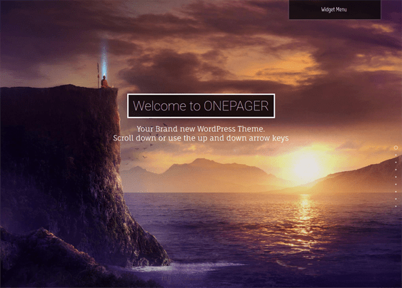 one pager one page wordpress theme
