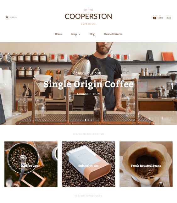 pacific warm tea coffee stores shopify themes