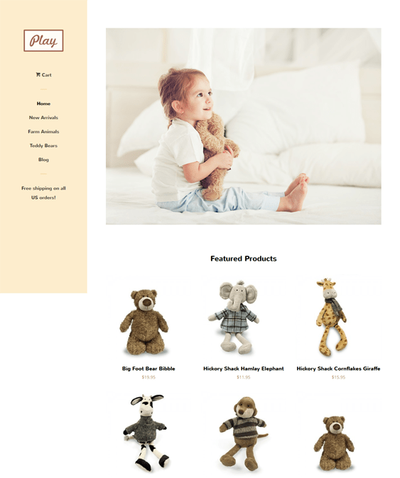 pop toy free minimal shopify theme