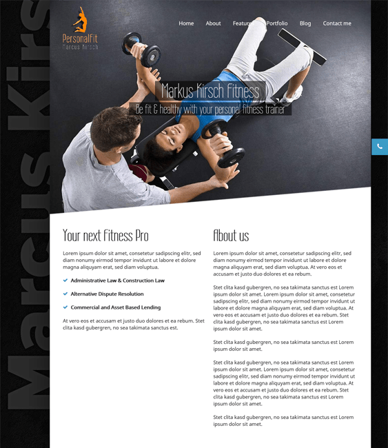 personalfit gym fitness wordpress theme