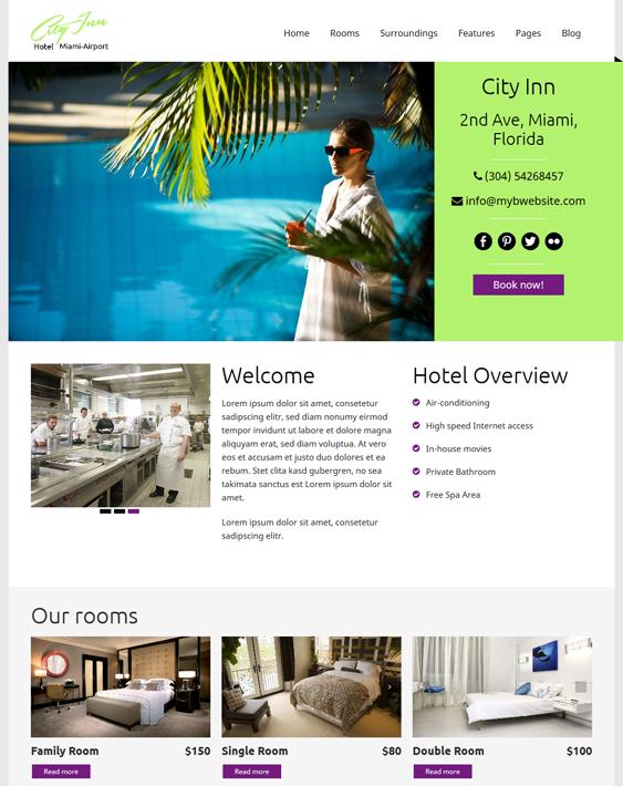 cityinn hotel wordpress theme