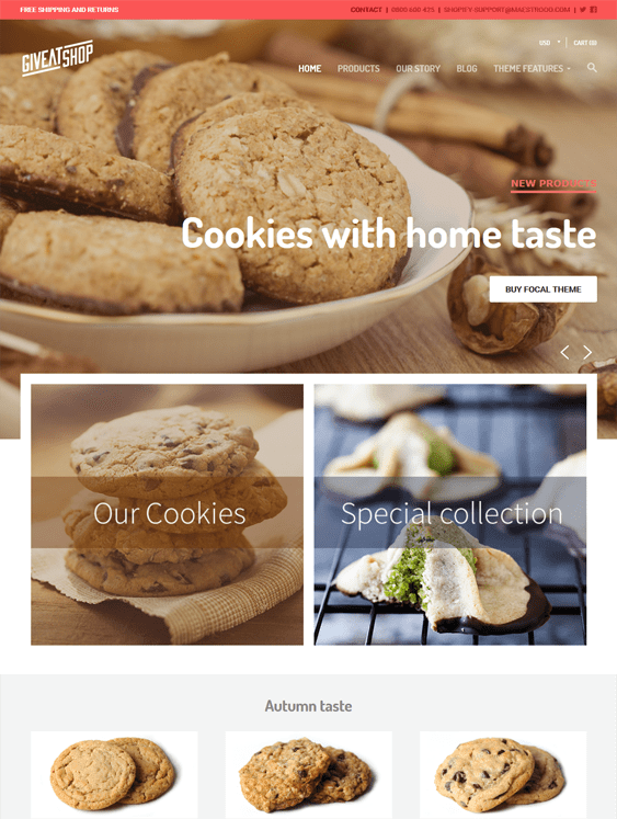 focal bakeries cupcake shops bakery shopify themes