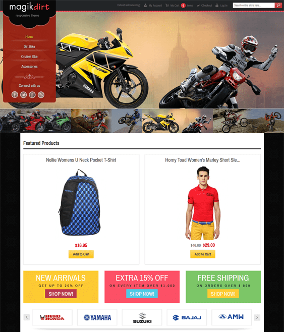 magik dirt sports fitness magento themes