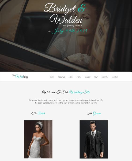 the wedding wordpress themes