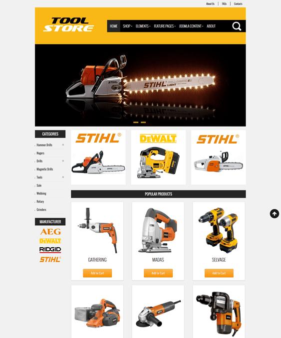 tool store virtuemart joomla theme