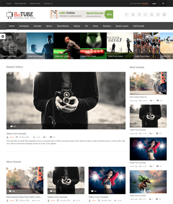 11 of the Best WordPress Themes for Video Sites – <br />down