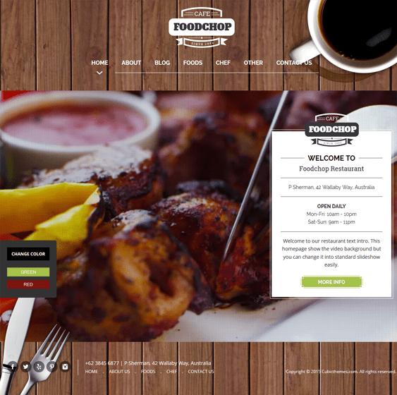 foodchop restaurant wordpress theme