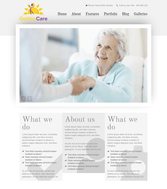 goldencare medical wordpress theme