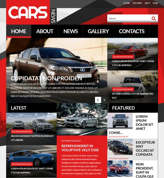 automobile car vehicle automotive joomla templates