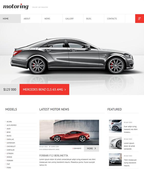 car club car vehicle automotive joomla templates