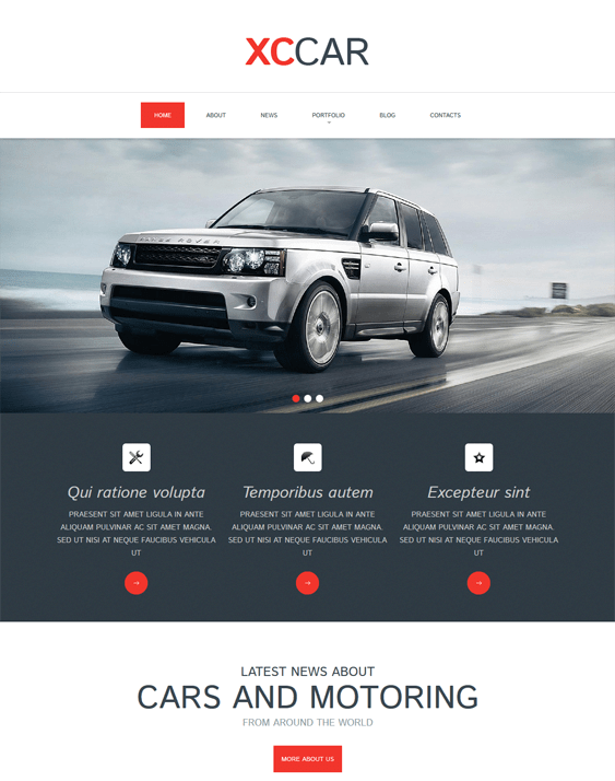 car club clean drupal themes