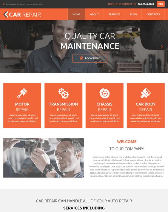 car repair car vehicle automotive joomla templates