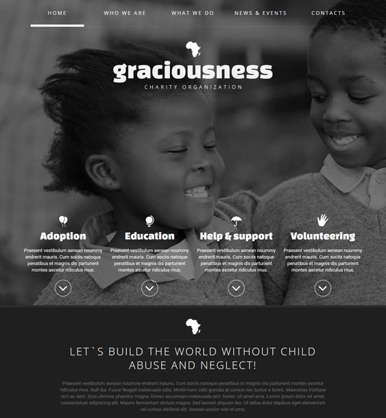 child charity nonprofit joomla templates