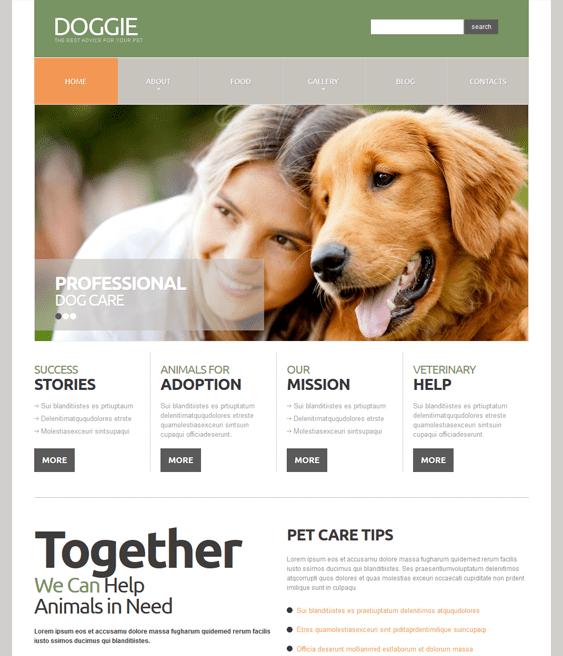 dog charity nonprofit joomla templates