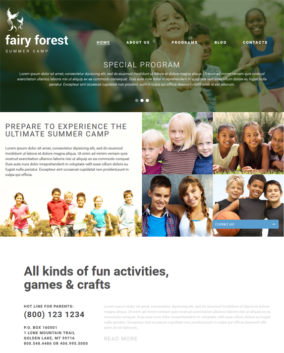 fairy kids joomla templates