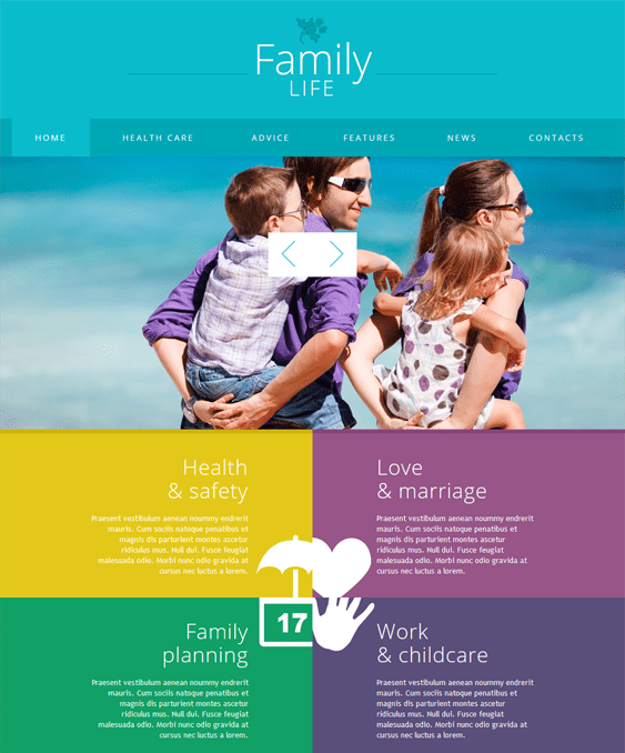 family kids joomla templates