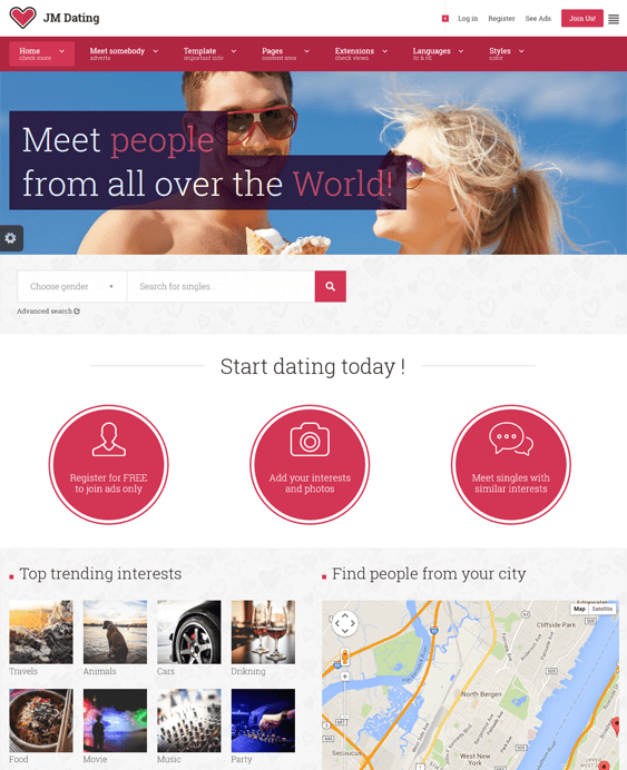 jm dating joomla templates. This Joomla template for dating websites ...